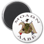 Iron Sights/Molon Labe 2 Inch Round Magnet