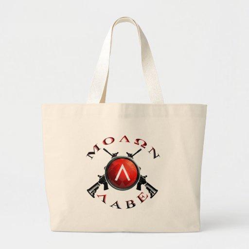 Iron Sights/Molon Labe Canvas Bags