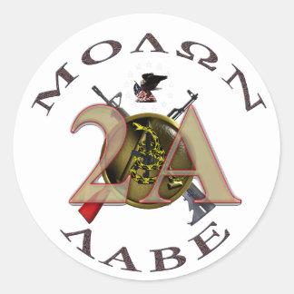 Iron Sights/Molon Labe Classic Round Sticker