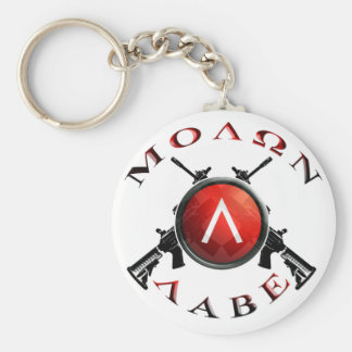 Iron Sights/Molon Labe Basic Round Button Keychain