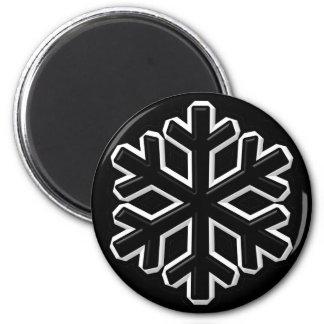 Iron Snowflake 2 Inch Round Magnet