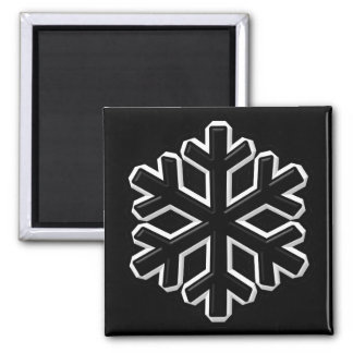 Iron Snowflake 2 Inch Square Magnet