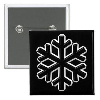 Iron Snowflake Button