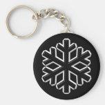 Iron Snowflake Keychain