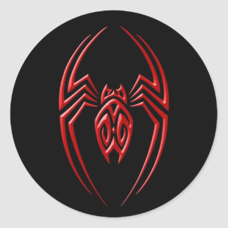 Iron Spider – Red and Black Classic Round Sticker