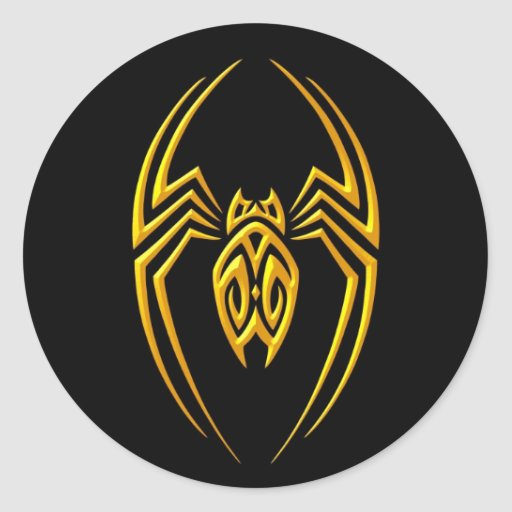 Iron Spider – Yellow and Black Stickers