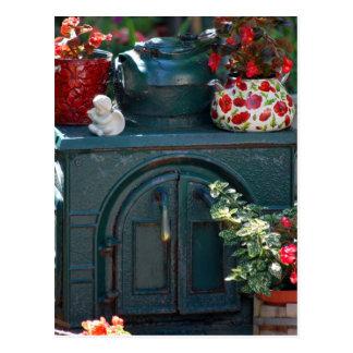 """Iron Stove"" original photography by Lisa Woodburn Postcard"