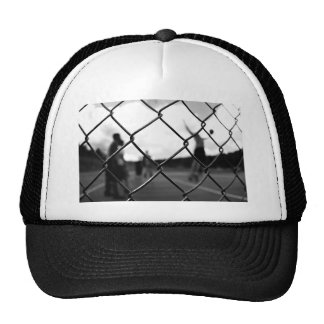 Iron Themed, A Balck And White Picture Of An Iron Trucker Hat