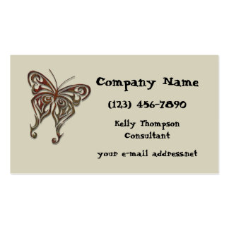 Iron Tribal Butterfly Business Card Template