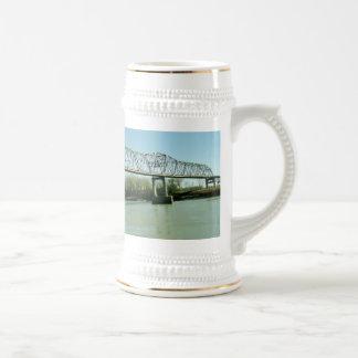 Iron Truss Bridge Beer Stein