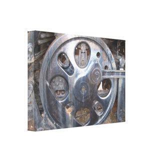 Iron Wheel of a Majestic Steel Horse Canvas Print
