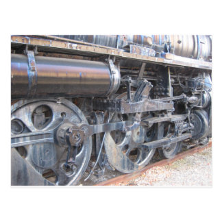 Iron Wheels of a Majestic Iron Horse Railroad Postcard