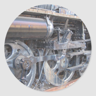 Iron Wheels of a Majestic Iron Horse Train Classic Round Sticker