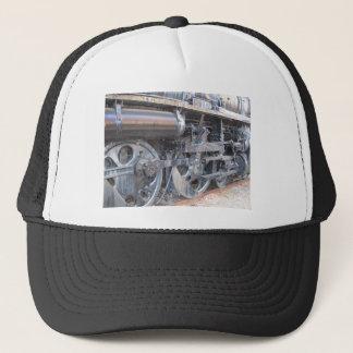 Iron Wheels of a Majestic Iron Horse Train Trucker Hat