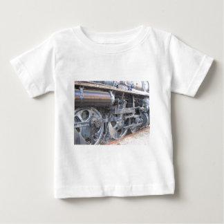 Iron Wheels of a Steam Engine Railroad Train Baby T-Shirt