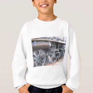 Iron Wheels of Majestic Iron Horse Railroad Engine Sweatshirt