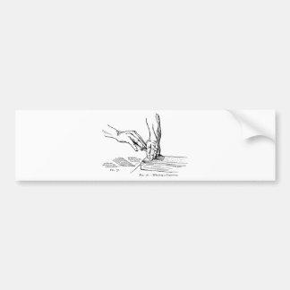 Iron Whetting Illustration Bumper Sticker
