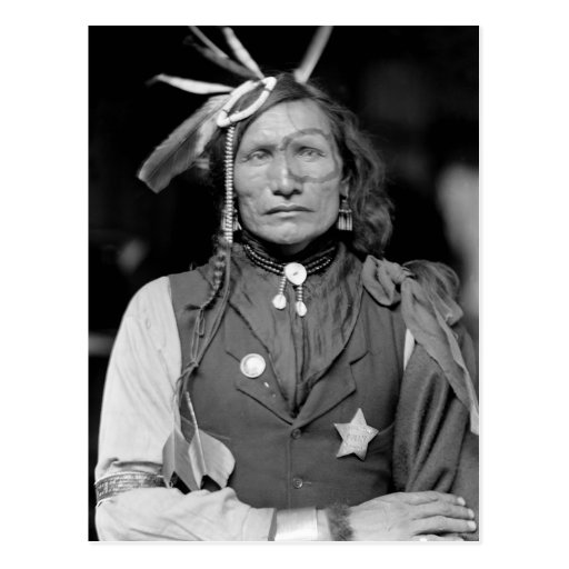Iron White Man: 1900 Postcard