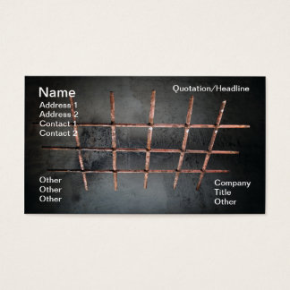 Iron window grille business card