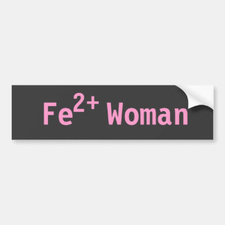 Iron Woman Triathelete, Pink and Grey Car Bumper Sticker