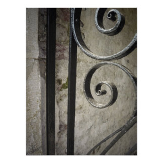 Iron Work Gate - Close Up Posters