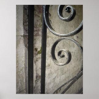 Iron Work Gate - Close Up Poster