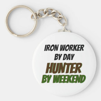 Iron Worker by Day Hunter by Weekend Keychain