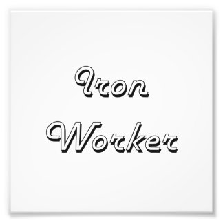 Iron Worker Classic Job Design Photo Print