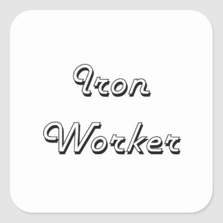Iron Worker Classic Job Design Square Sticker