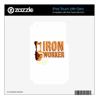 Iron Worker iPod Touch 4G Skins