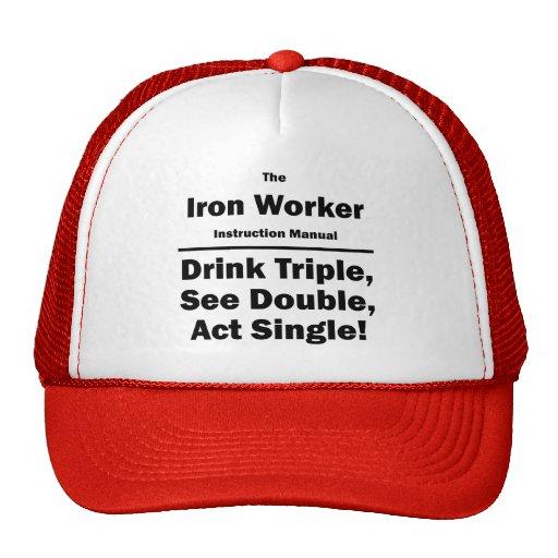 iron worker mesh hats