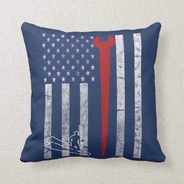 Iron Worker Throw Pillow