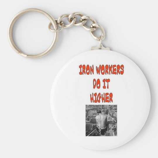IRON WORKERS DO IT HIGHER KEYCHAIN