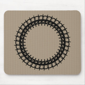 Iron-Wreath- Beige(c)_Unisex Mouse Pad