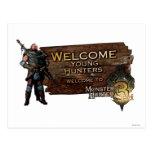 Ironbeard McCullough, cazadores jovenes agradables Postal