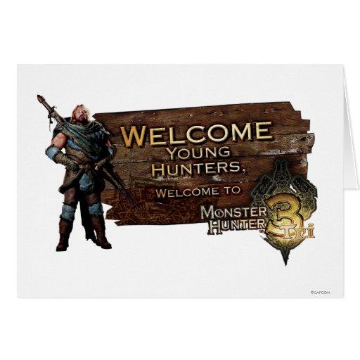 Ironbeard McCullough, cazadores jovenes agradables Tarjeta De Felicitación