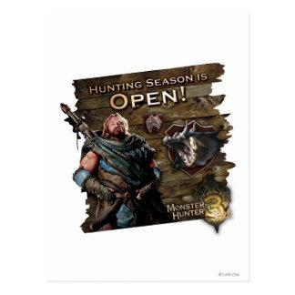 Ironbeard McCullough, Hunting season is open! Postcard