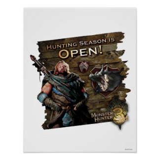 Ironbeard McCullough, Hunting season is open! Poster