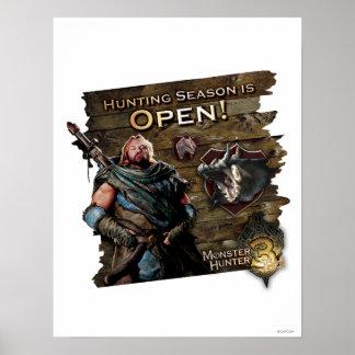Ironbeard McCullough, Hunting season is open! Poster