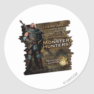 Ironbeard McCullough, There are Hunters, and then Classic Round Sticker