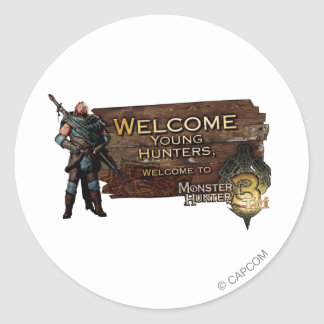 Ironbeard McCullough, Welcome young hunters to Mon Classic Round Sticker