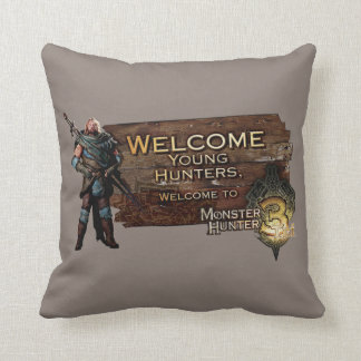 Ironbeard McCullough, Welcome young hunters to Mon Throw Pillow