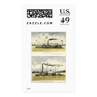 Ironclad Alexandria by D.M.N. Stouffer 1864 Stamp
