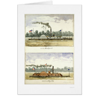 Ironclad Eastport by D.M.N. Stouffer 1864 Greeting Card