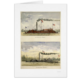 Ironclads Essex y Choctaw por Stouffer 1864 Tarjeta De Felicitación