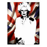 Irone Lady - Margaret Thatcher Postcard