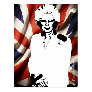 Irone Lady - Margaret Thatcher Post Card