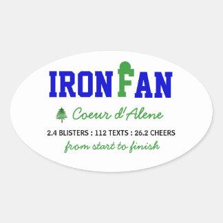 IronFan Oval Sticker