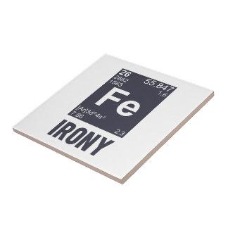 Ironía irónica del FE del elemento químico Tejas