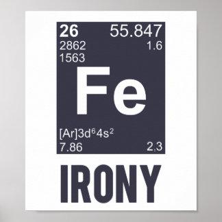 Ironía irónica del FE del elemento químico Impresiones